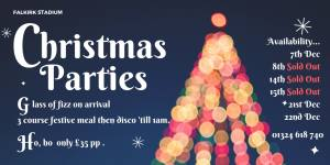 Christmas Party Nights are now SOLD OUT.