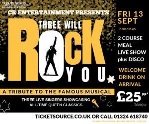 Three Will Rock You Tribute Night - 13 Sept