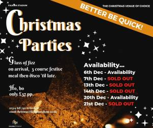 Christmas Party Nights are selling out fast!
