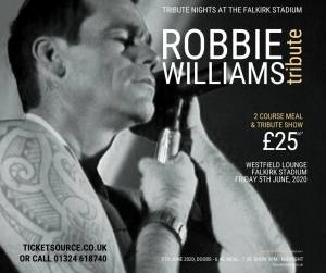 Robbie Williams Tribute Night - CANCELLED - Fri 5th June 2020