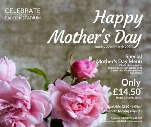 Mother's Day at The Stadium -  22 March