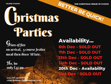 Christmas Party 2019 Logo.Christmas Party Nights Are Selling Out Fast
